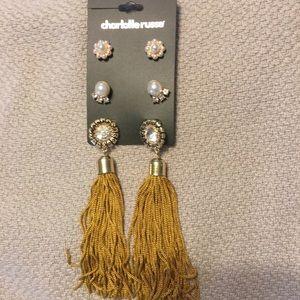 NWT Set of tassel earrings and studs